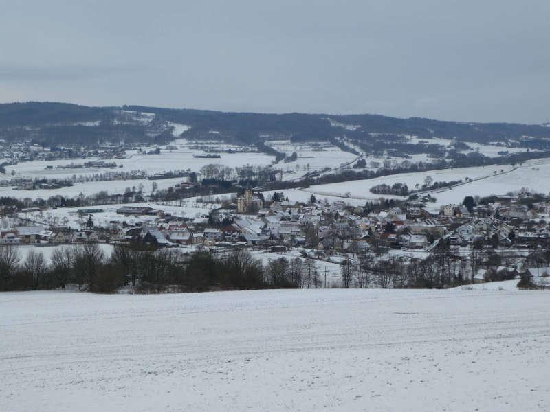 Blick vom Wurmberg auf Fladungen Unterfranken
