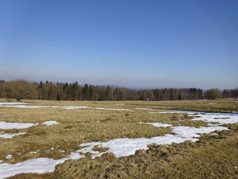 Winterlandschaft in der Rhön Bayern Unterfranken