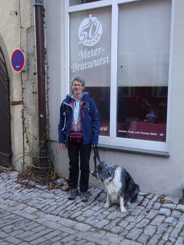 Meterbratwurst auf Trumrunde in Sulzfeld am Main Singles Wandern