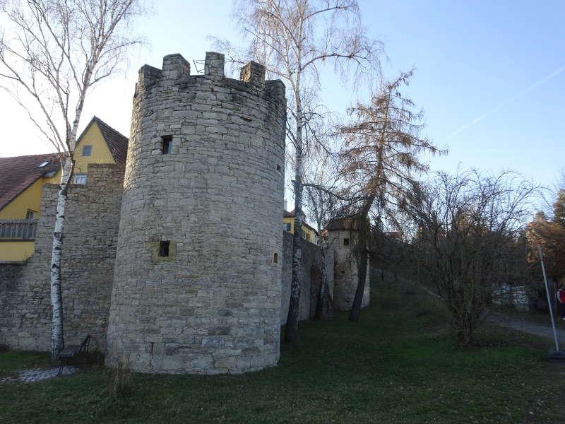 Stadtmauer Sulzfeld am Main Singlewanderung
