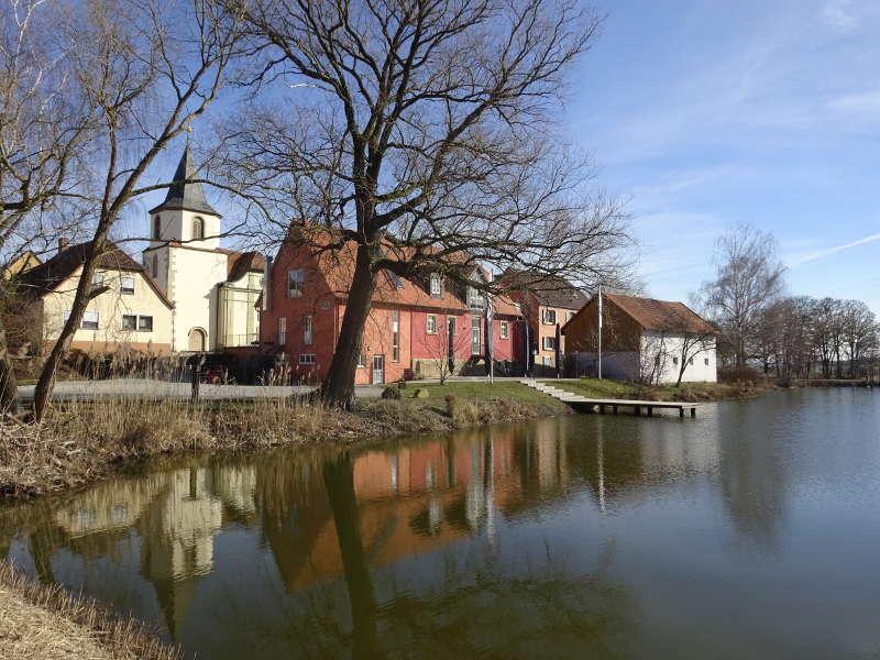Augustiner Am See in Birklingen auf Singlewanderung Traumrunde Iphofen Unterfranken in Bayern Mittelfranken und Oberfranken