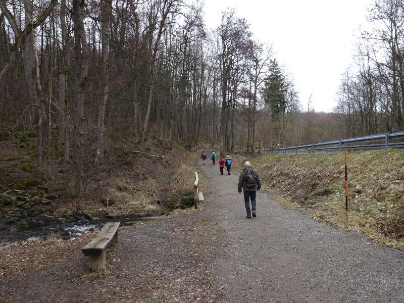 Wandern am Rhön Bach entlang zur Rother Kuppe Unterfranken Rhön Singles