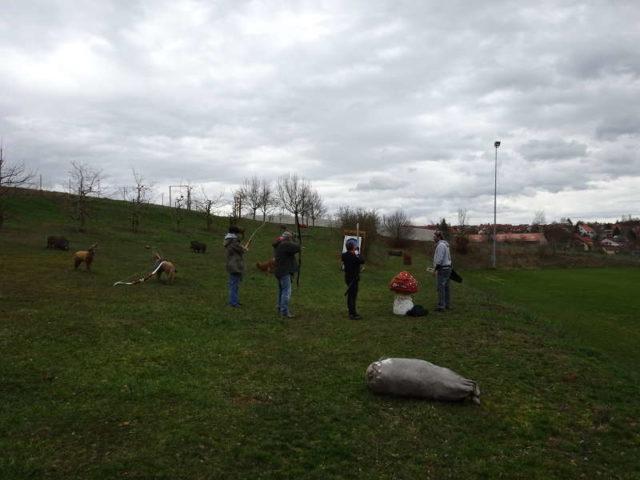 Bogenschießen in Würzburg Single Outdoor Aktivität Event Unterfranken