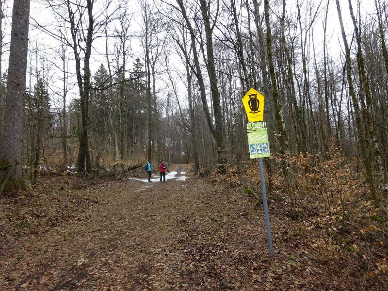 Eule als Zeichen für Kernzone im Biosphärenreservat Unterfranken Rhön Naturschutzgebiet Singles gemeinsam Sonja Heinemann