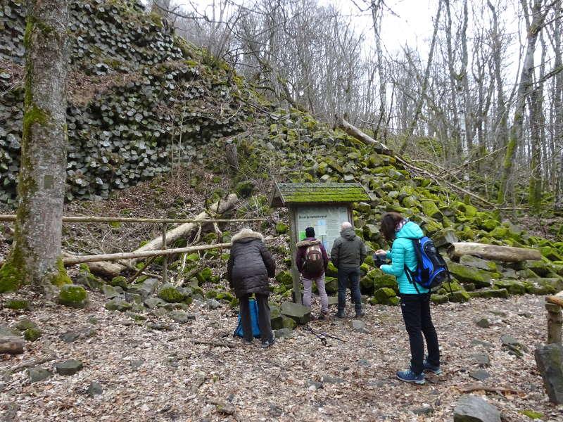 Prismenwand am Gangolfsberg Kernzone Unesco Weltkulturerbe Naturschutzgebiet Rhön Oberelsbach Unterfranken
