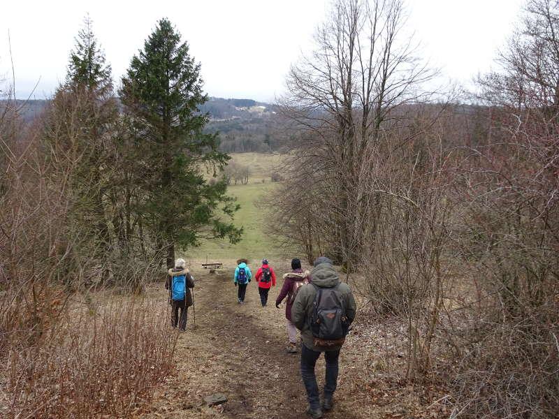 Wanderung Singles zur Rother Kuppe Mittagessen Unterfranken Rhön Milan