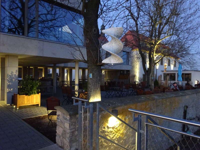 Vogelsburg bei Volkach Mainschleife Unterfranken Wanderung Vollmond Sonnenuntergang Singlewanderung