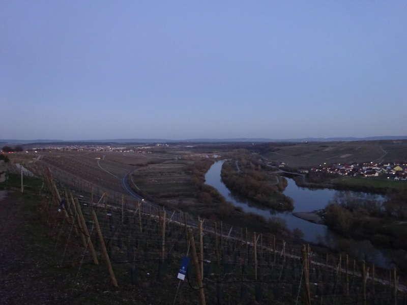 Volkacher Mainschleife Wanderung bei Vollmond mit Sonnenuntergang in Unterfranken