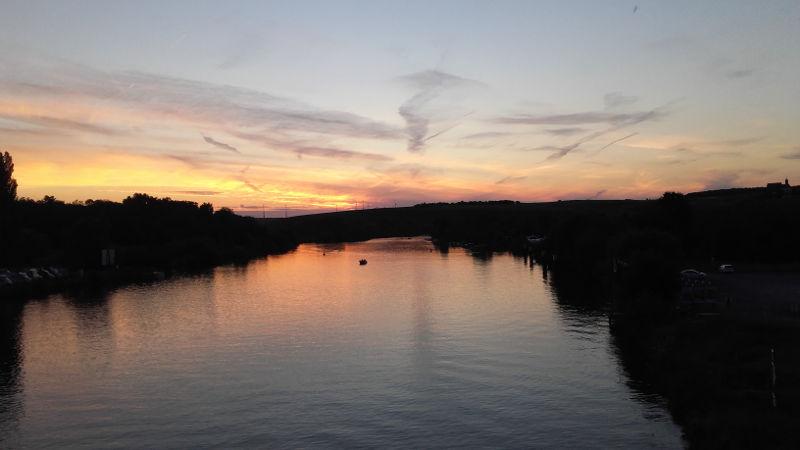 Sonnenuntergang Vogelsburg
